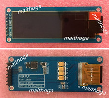 maithoga 2.08 inch 7PIN SPI Blue OLED Screen with Adapter Board SH1122 Driver IC 256*64 IIC Interface
