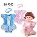 Los Bebés de La Princesa Romper + Headband 2 unids/set Recién Nacido Bebé Del Verano Ropa Infantil de Disfraces de Dibujos Animados Niño Ropa H572