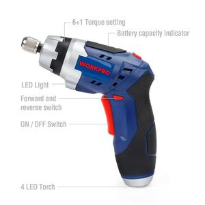 Image 2 - WORKPRO 3.6V Cordless Screwdriver Foldable Electric Screwdriver Rechargeable Screwdriver with Work Light