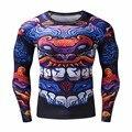 Estilo chino camisetas divertidas 3d dragón camiseta de la moda hip hop marca clothing clothing men plus gimnasio camisa de compresión