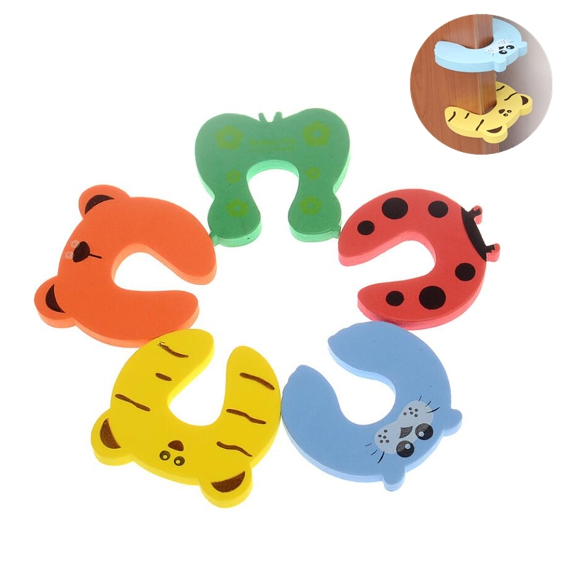 5 Pcs/lot Baby Safety Edge Corner Guards Baby Head Protector Cartoon Child Protection Safety Door Stopper Baby Care Products