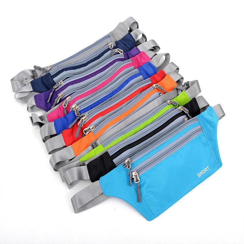 Unisex Running Bum Bag Travel Handy Hiking Outdoor Sport Running Bag Fanny Pack Waist Belt Zip Pouch 10 Color Options