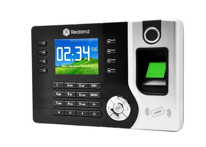 LCD Display Biometric Fingerprint Attendance Machine ID Card Reader TCP/IP Time Clock Recorder Employee Checking-in A-C071 Black