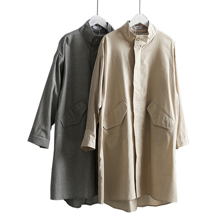 2019 Women Spring   Trench   Coat Cotton And Linen Material Women Long Coat Casaco Feminino Tops For Women Thin Coat Outerwear