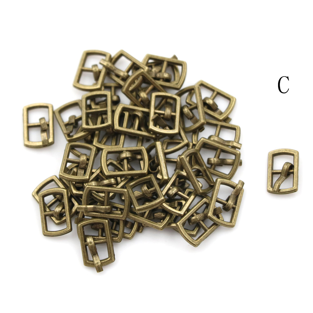 3/10PCS 4.5mm Mini Buckle DIY Patchwork Buckle For Dolls Clothing Adjustable Accessories Handmade Sewing 20