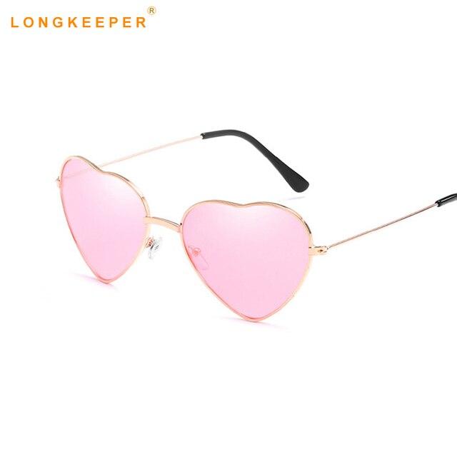 e1579b7834dc47 Love Heart Mirror Sunglasses Women Cat Eye Vintage Black Pink Heart Shape  Metal Reflective Sun Glasses