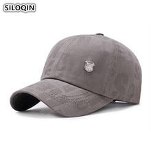SILOQIN Mens Simple Cotton Baseball Caps Personality Fashion Classic Sun Visor Cap Male Bone Adjustable Size Snapback Brand Hat