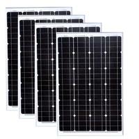 Waterproof Placa Solar 12v 60w 4PCs China Solar Panels 48v 240w Batterie Camping Charger Solar Smartphone Caravan Car Camping