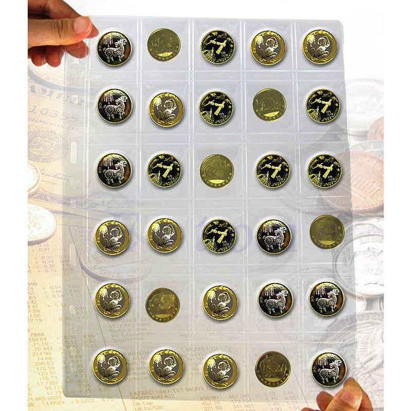 20/30/42 Plastic Pockets Classic Coin Holders Sheets for Storage Collection Album Pockets Coin Storage Interleaf Album Pages