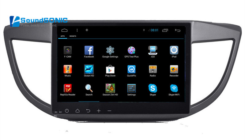 10.2Inch Full Touch Screen Android 6.0 Car DVD <font><b>GPS</b></font> Special for <font><b>Honda</b></font> For <font><b>CRV</b></font> <font><b>2013</b></font> 2014 with Wifi 1024*600 HD Screen image