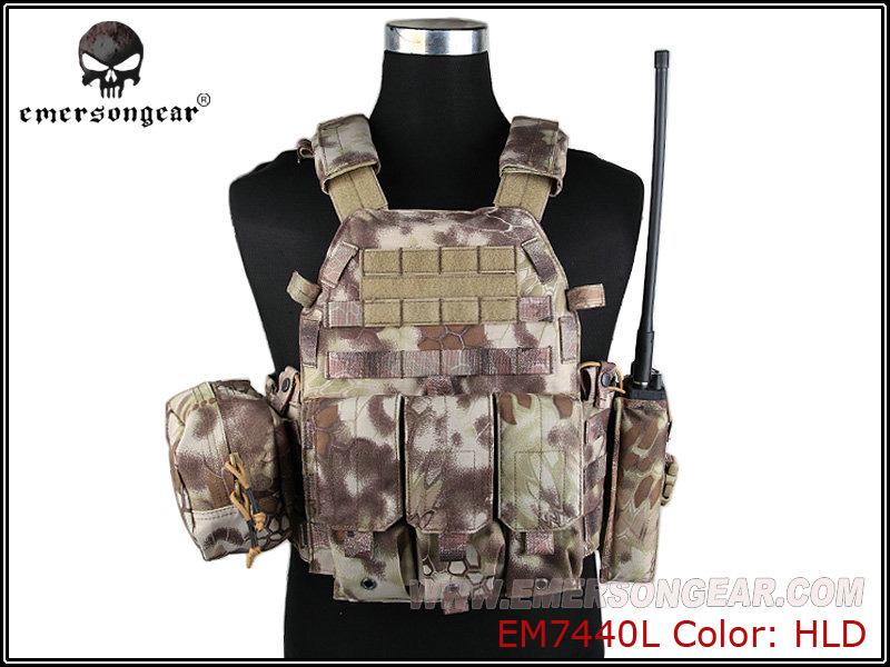 Analytical Emersongear Lbt6094a Style Tactical Vest With 3 Pouches Hunting Airsoft Military Combat Gear Highlander Em7440l Shrink-Proof Back Support Sports Accessories