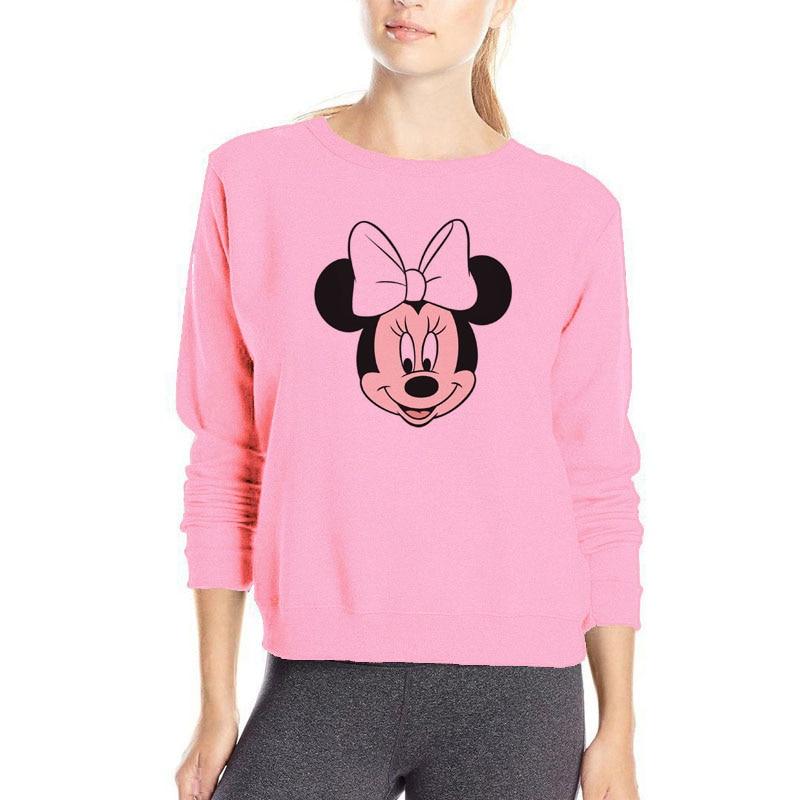 Famous Cartoon Mickey Hoody Beautiful Women Sweatshirts -2682