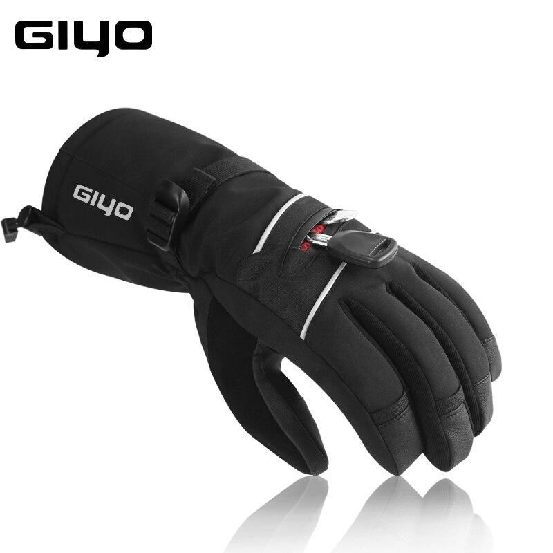 Giyo Зимние перчатки для велоспорта на полный палец термальные перчатки для лыжного сноуборда и велосипеда зимние спортивные перчатки с сенс
