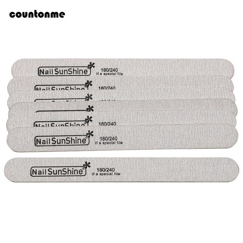 10pcs Wooden Nail File Nail Buff Polishing Block Sanding Files For Manicure Sandpaper 180/240 Nail Art Tool Straight Thick Stick