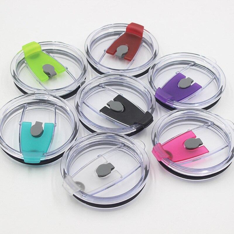 25pcs 7 color 30oz 20oz Colorful for Cups Leakproof lids Splash Clear Spill Proof Lids Covers