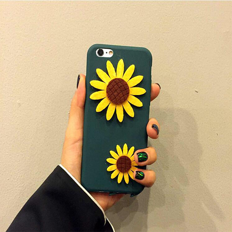 3D Luxury Sunflower Phone Cases for iPhone 6 6s Plus Back ...
