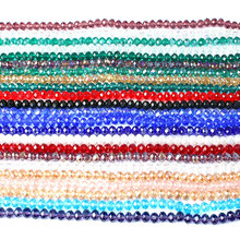 LanLi 4/6/8mm multicolor faceted Electroplate glass Loose Beads  series of products DIY bracelet necklace ear stud Accessories