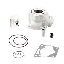 Комплект для ремонта верхней части с поршневым цилиндром и уплотнениями для Yamaha YZ85 YZ 85 02-14 полный комплект запасных цилиндров стандартного ...