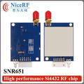 2sets TTL RS232 RS485 SNR651 Embedded Multi-ports Network Node 433MHz rf long distance transmitter module
