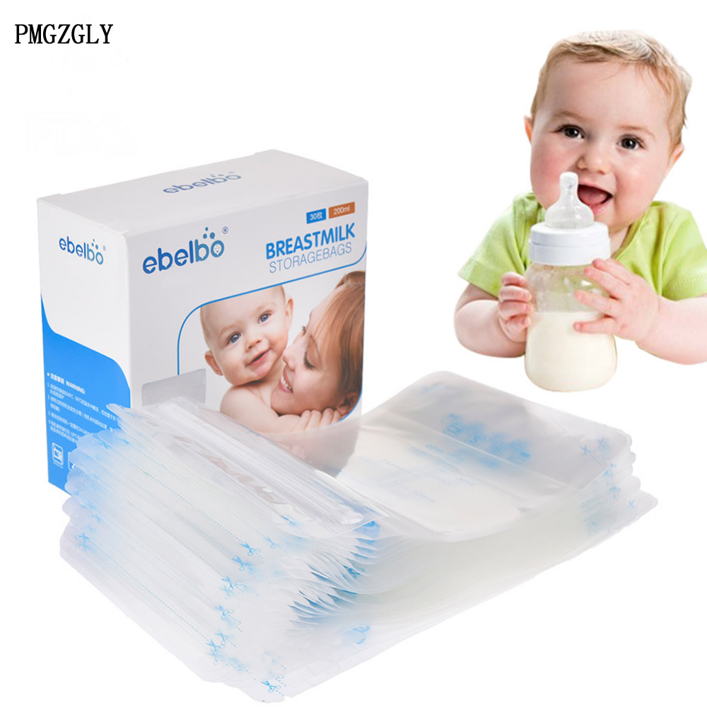 20 Pieces Breast Milk Storage Bag BPA Free Baby Safe Feeding Bags 250ml Milk Freezer Bags Mother Milk Baby Food Storage