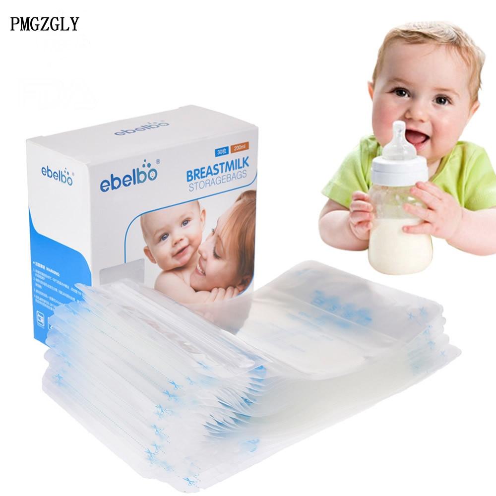 20 Pieces Breast Milk Storage Bag BPA Free Baby Safe Feeding Bags 250ml Milk Freezer Bags Mother Milk Baby Food Storage