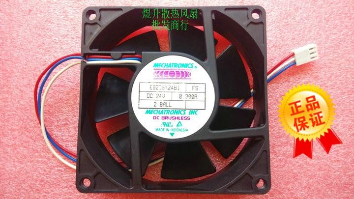 Original MECHATRONICS E9225X24B1 9CM 9225 24V 0.3A 2-wire Inverter Cooling Fan nmb 3610kl 05w b49 9225 24v 3 wire cooling fan blower