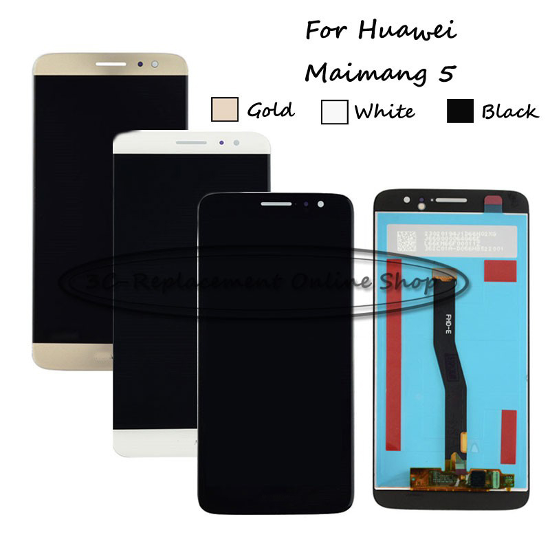 Black/White/Gold For Huawei Maimang 5 Head 5 MLA-AL00 MLA-AL10 MLA-L01 LCD Display + Touch Screen Digitizer Assembly Replacement