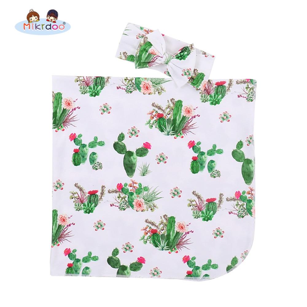 Bebé recién nacido niño lindo recibir manta Cactus impreso con ...