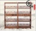 Classical mahogany bookcase shelf bookcase wood antique furniture Shelf Bookshelf four stone frame wenge