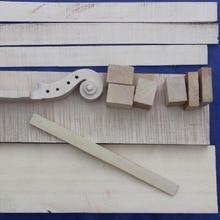 Части скрипки, один набор 4/4 размера скрипки изготовление материала для Luther