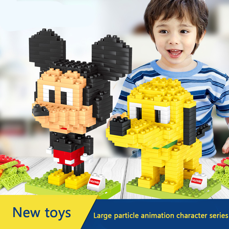 animation Quality Big Building Blocks Self-locking Bricks Educational Toys for Children Gift Compatible with all brand kids toys 100pcd pack children snowflake match building blocks colorful self locking bricks 3 5cm big plastic blocks kids educational toys