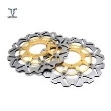 Cnc da motocicleta frente flutuante disco de freio rotor & disco de freio traseiro rotor para honda cbr600 cbr 600 2007 2013 cbr600rr 2003 2014