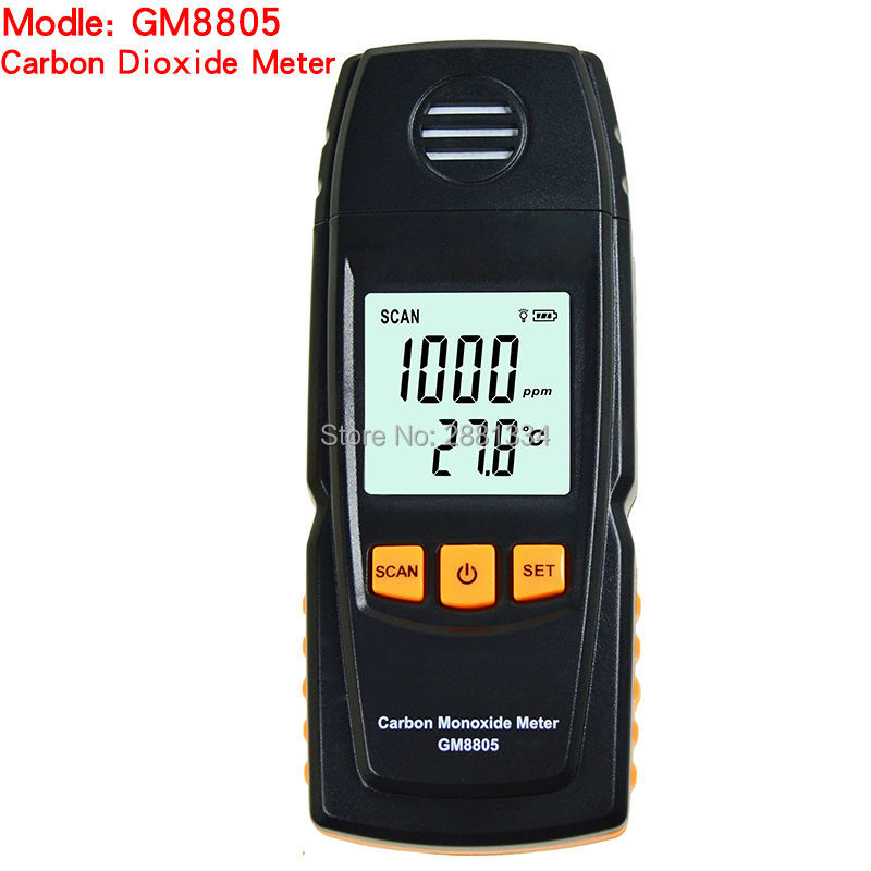 GM8805 Portable Handheld Carbon Monoxide Meter High Precision CO Gas Detector Analyzer Measuring Range 0-1000ppm detector de gas  цены