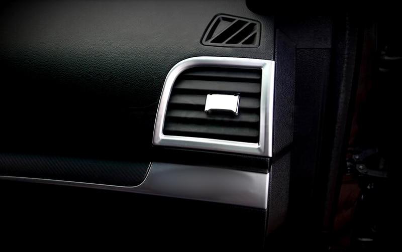 side air condition vent outlet cover trim 2pcs for ford explorer 2016 lhd car interior. Black Bedroom Furniture Sets. Home Design Ideas