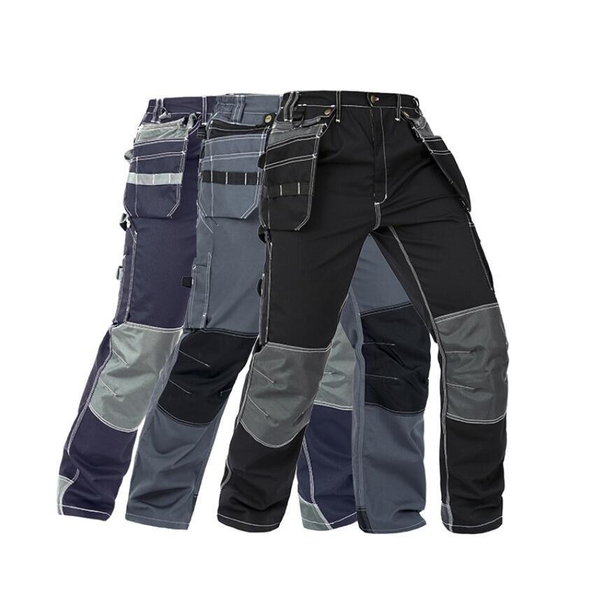 Working Pants Multi-Pockets Wear-Resistant Worker Mechanic Cargo Pants Work Wear Trousers High Quality Machine Repair Pants