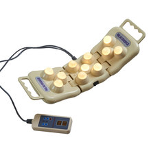 Jade Massage Pillow Electric Stone Folding Massage Neck Back Shoulder Massager Therapy Apparatus Infrared Heating Therapy Pillow byriver electric jade stone 3 ball handheld ceramic projector massager with heating and vibrating massage far infrared ray