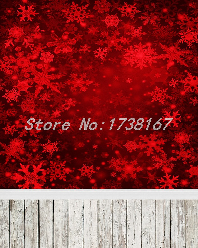 ФОТО 200cm*300cm(7ft*10ft) Photo Backdrop Christmas Sparkling Red Snowflake Children Background Vinyl Backdrops For Photography L887