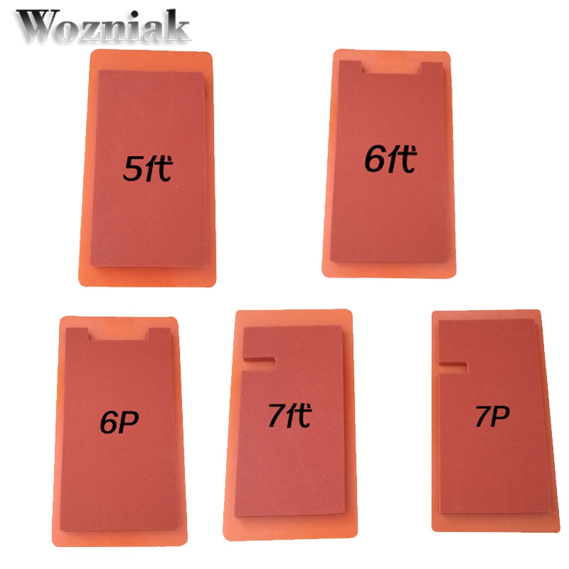 Wozniak for iphone 5 66S 6s plus glass with frame silicone pad mould for OCA Laminating machine silica gel pad mold foam mat