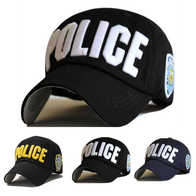 c60cf1d905c Letter Baseball Caps Leisure Embroidery POLICE Baseball Cap Snapback Hats  For Men Women bone Cap Snap Back casquette Enfant