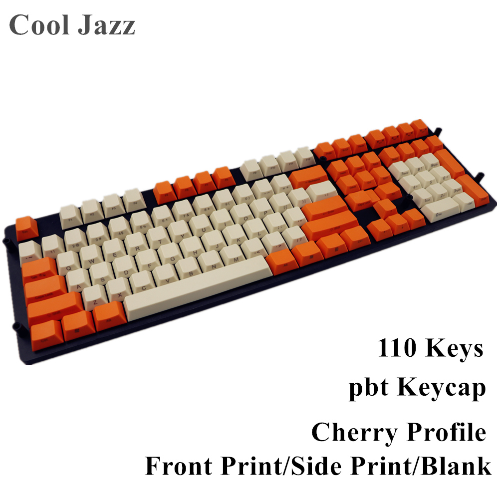 все цены на Blank Side-printed Front Print 108 Thick PBT Keycap cherry Profile For MX Switches Mechanical Gaming Keyboard онлайн