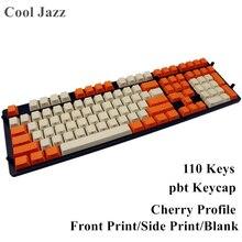 Пустые боковые печатные передние печатные 108 толстые клавишные колпачки из ПБТ Вишневый профиль для MX переключатели Механическая игровая клавиатура