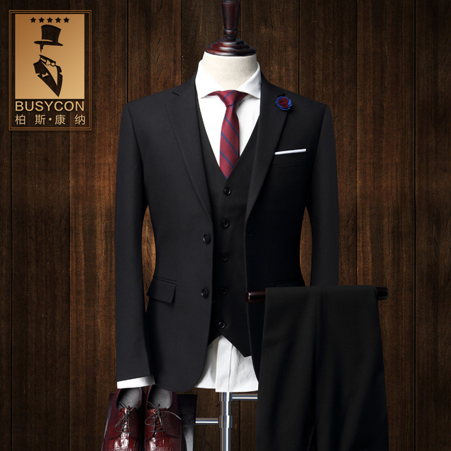 black wedding suits for men 2016 latest coat designs herren anzug trajes hombre formal bodas. Black Bedroom Furniture Sets. Home Design Ideas