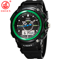 OHSEN Analog Relogio Digital Military Alarm Date Stopwatch Green Silicone Strap Wristwatch Quartz Watch Casual Men Sport Watches