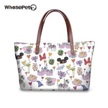 WHOSEPET Womens Shoulder Bag Cartoon Mouse Top-handle Bags Sweet Girls Cute Handbags Large Capacity Clutch Sac Feminina