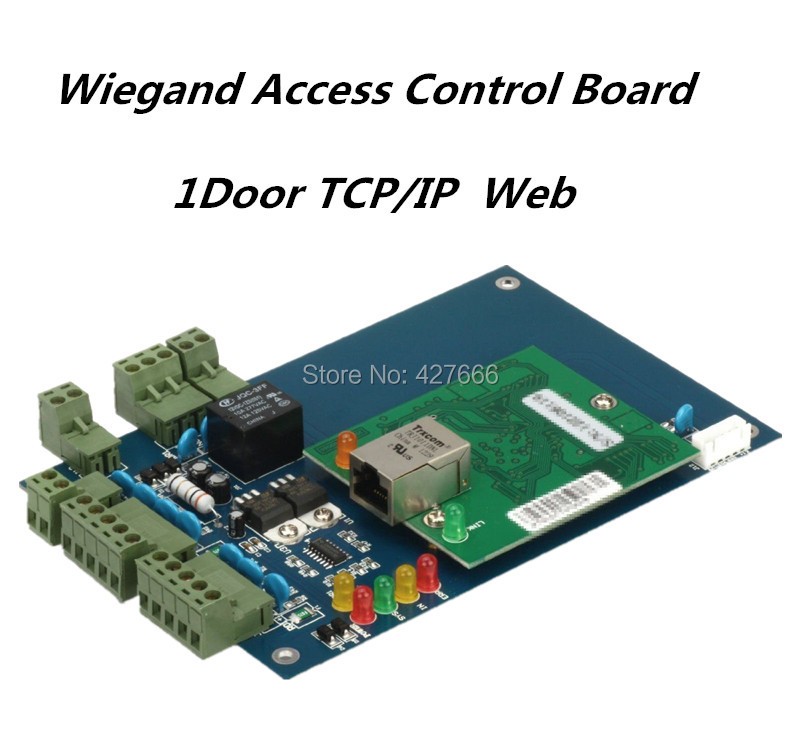 20000 Card users TCP/IP Single Door Two Way Access Control Board / Card Access Contorl System