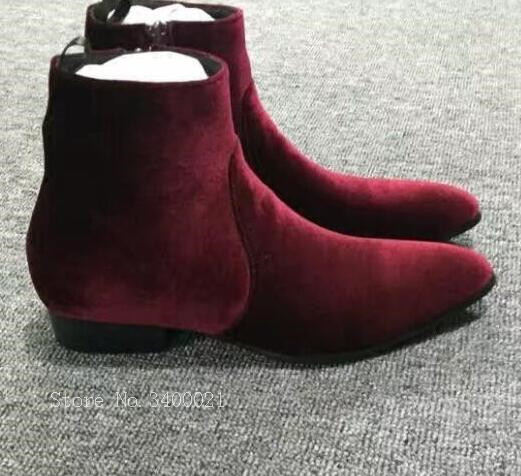 2018 winter Red Flock Men boots high quality martin boots british style men short boots fashion brand boots new new punk high top pointed toe men martin boots fashion short british style vintage winter boots outdoor height increaseing shoes page 2 page 3