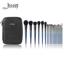 Джессап кисти для макияжа New 18 шт. составляют набор кистей и 1 шт. косметичка женские пудра Контурный карандаш для век кисти