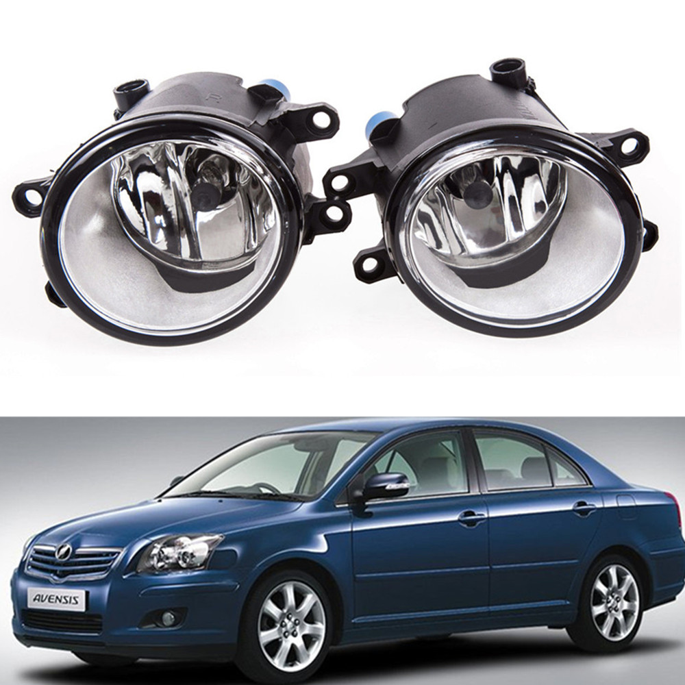 for car styling Front bumper Fog lights For TTOYOTA AVENSIS Saloon T25 2003-2008 fog lamps ( esquerda + direita ) Halogen 1SET