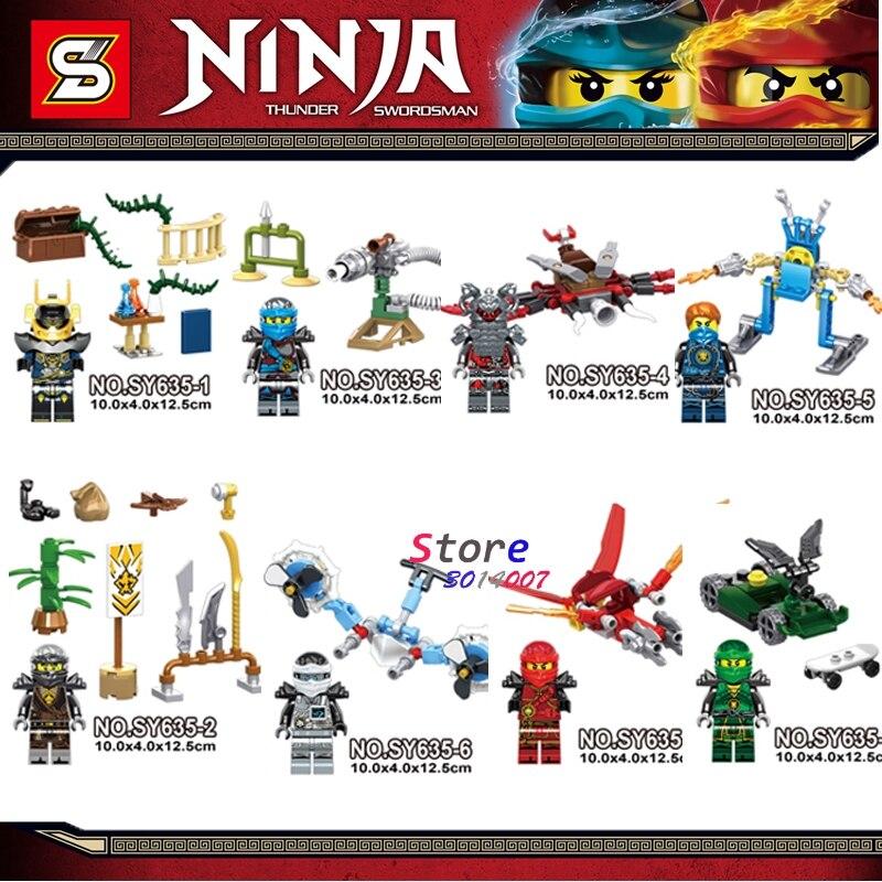 80pcs building blocks Masters of Spinjitzu Green Red Ninja Series New Season bricks for baby house games kids children toys
