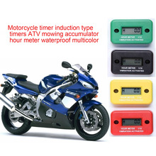 BYGD 1pc Waterproof Motorcycle Tach Vibration Hour Meter Fit ATV Snowmobile Boat Gas Engine